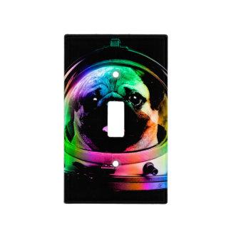 Astronaut pug - galaxy pug - pug space - pug art light switch cover