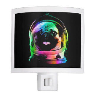 Astronaut pug - galaxy pug - pug space - pug art night lite
