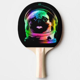 Astronaut pug - galaxy pug - pug space - pug art ping pong paddle