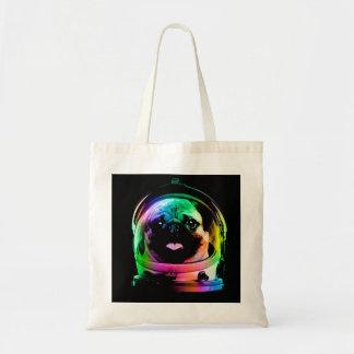 Astronaut pug - galaxy pug - pug space - pug art tote bag