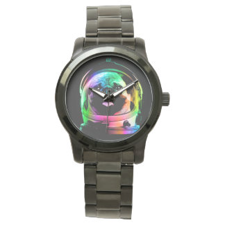 Astronaut pug - galaxy pug - pug space - pug art watch