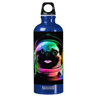 Astronaut pug - galaxy pug - pug space - pug art water bottle