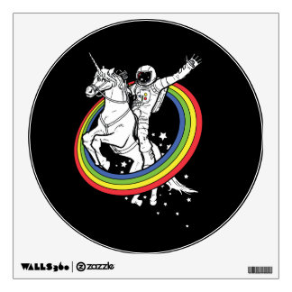 Astronaut riding a unicorn wall sticker