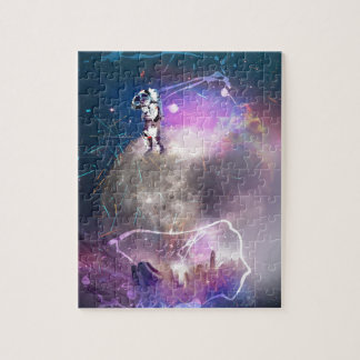 Astronaut Riding Super Nova Jigsaw Puzzle