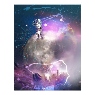 Astronaut Riding Super Nova Letterhead
