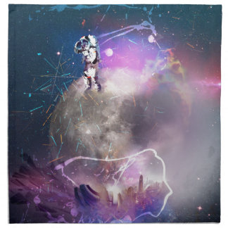 Astronaut Riding Super Nova Napkin