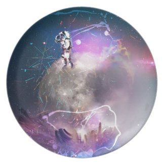 Astronaut Riding Super Nova Plate