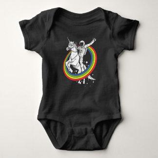 Astronaut riding the unirorn baby bodysuit