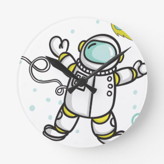 Astronaut Round Clock