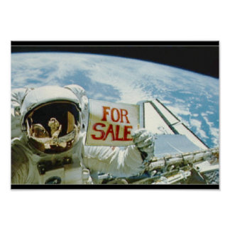 Astronaut Sells Earth Poster