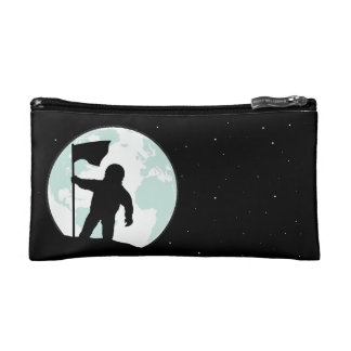 Astronaut Silhouette Cosmetic Bag