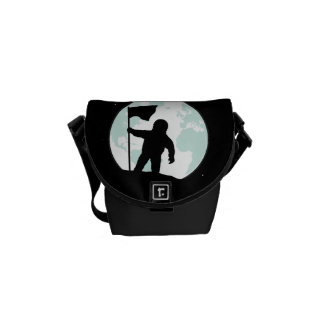 Astronaut Silhouette Courier Bag