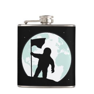 Astronaut Silhouette Flask