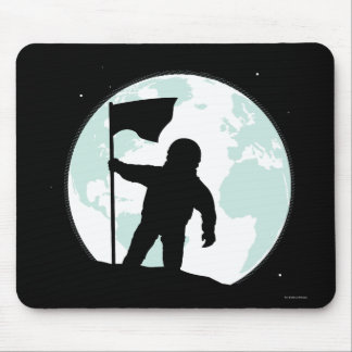 Astronaut Silhouette Mouse Pad