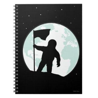 Astronaut Silhouette Notebook