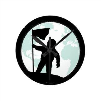 Astronaut Silhouette Round Clock
