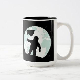 Astronaut Silhouette Two-Tone Coffee Mug