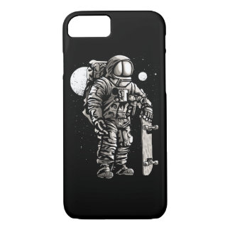 Astronaut Skater Glossy Phone Case