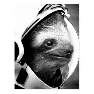 Astronaut Sloth Postcard