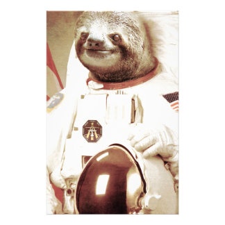 Astronaut Sloth Stationery Paper