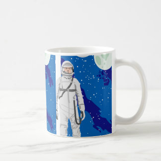 astronaut space background coffee mug