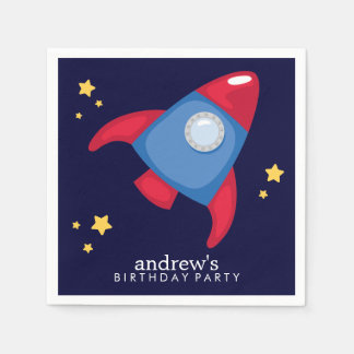 Astronaut Space Birthday Party Personalized Disposable Napkin