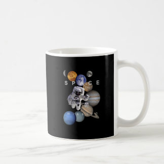 astronaut space mission solar system planets coffee mug