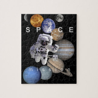 astronaut space mission solar system planets jigsaw puzzle