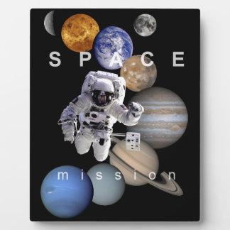 astronaut space mission solar system planets plaque