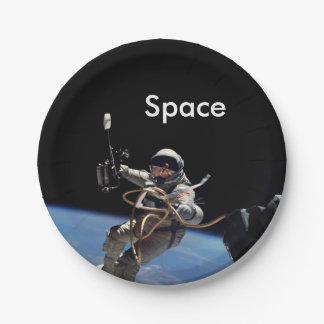 Astronaut Space Walk Paper Plate
