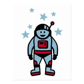 Astronaut stars postcard