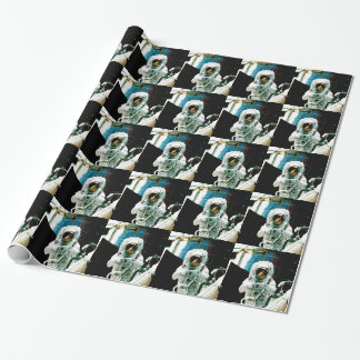 astronaut  suit space nasa aerospace wrapping paper