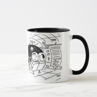 Astronaut surprised to see mail delivered mug