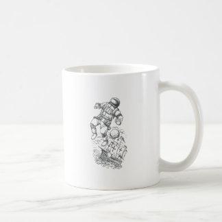 Astronaut Tethered to Caravel Tattoo Coffee Mug