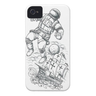 Astronaut Tethered to Caravel Tattoo iPhone 4 Case-Mate Case