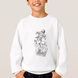 Astronaut Tethered to Caravel Tattoo Sweatshirt