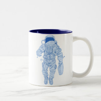 Astronaut Two-Tone Coffee Mug