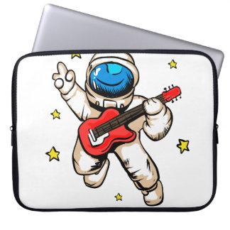 Astronaut victory gesture laptop sleeve