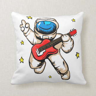 Astronaut victory gesture throw pillow