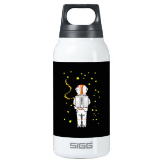Astronaut Weeing In On The Moon Insulated Water Bottle