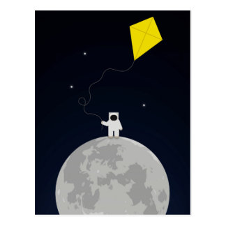 Astronaut with a Kite Postcard
