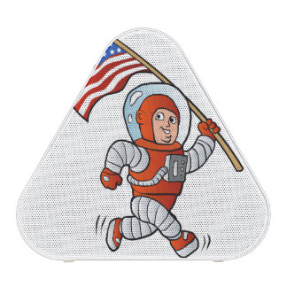 Astronaut with american flag blueooth speaker