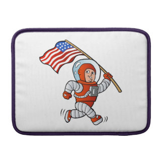 Astronaut with american flag sleeves for MacBook air