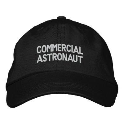 Astronaute commercial casquette brodée
