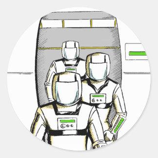 Astronautes de la science fiction sticker rond