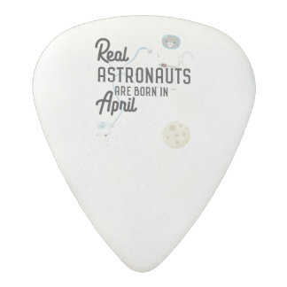 Astronauts are born in April Zg6v6 Acetal Guitar Pick