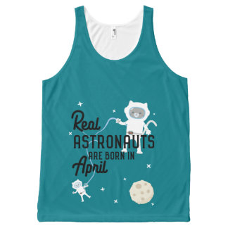 Astronauts are born in April Zg6v6 All-Over-Print Tank Top