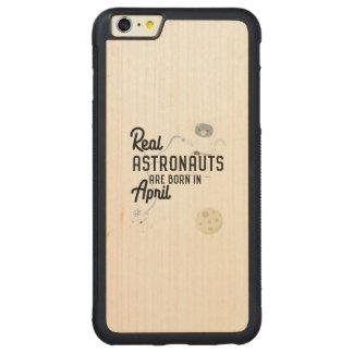 Astronauts are born in April Zg6v6 Carved Maple iPhone 6 Plus Bumper Case