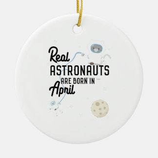 Astronauts are born in April Zg6v6 Ceramic Ornament
