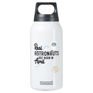 Astronauts are born in April Zg6v6 Insulated Water Bottle